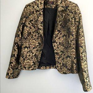 Verda Gold/ Black blazer